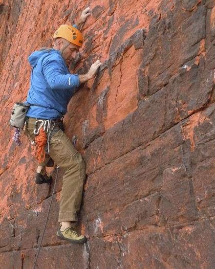 Even concrete petrographers have to have some fun. November at Red Rocks...