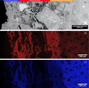 Image of ordinary Portland cement via scanning electron microscopy/energy dispersive x-ray spectroscopy